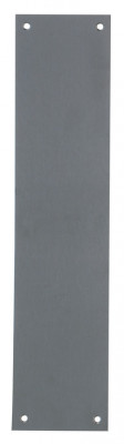 Push plate, square corners, 325x75 mm, stainless steel, 1.5 mm thick satin