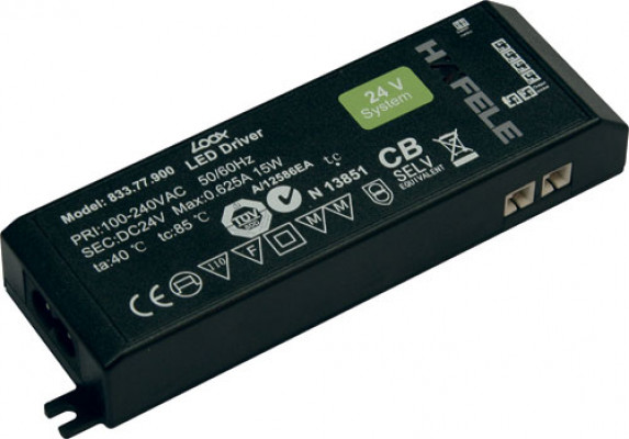 LED driver 24V/0-40W, for 1-6 lights, without mains lead, rated IP 20, LOOX, black