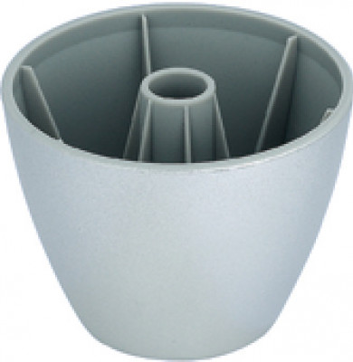 Furniture foot, 70X51mm, plastic,lacquered -capacity approx. 100kg, silver