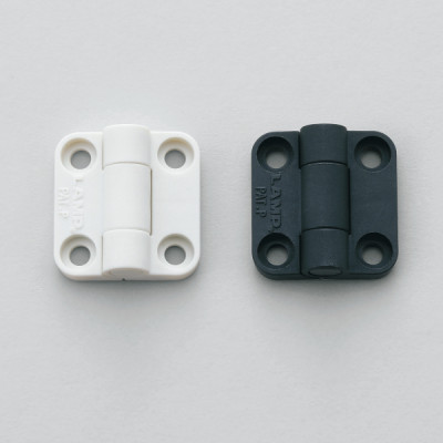 Mini detent hinge, white