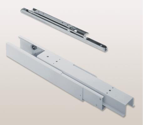 Full extension runner, D=490mm, PEKA For Wooden Cabinets White