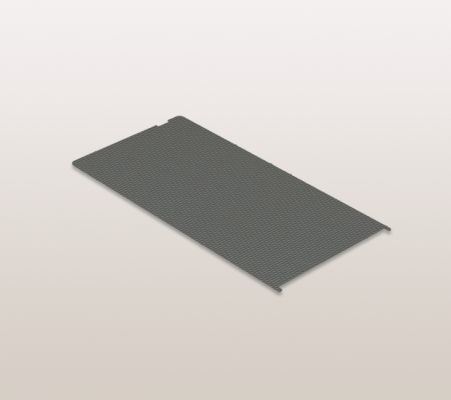 Anti slip matting, SNELLO LIBELL, D=418 mm, W=229 mm, CW=300 mm, PEKA, grey