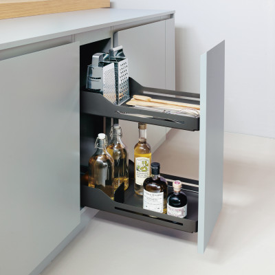 Bottle rack, SNELLO LIBELL, soft close, NL=475 mm, H=520 mm, CW=300 mm, PEKA, anthracite