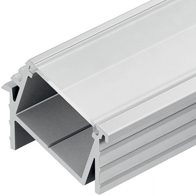 End caps, 13 mm angled aluminium profiles, with cable outlet, to suit HA.833.74.817 / 818