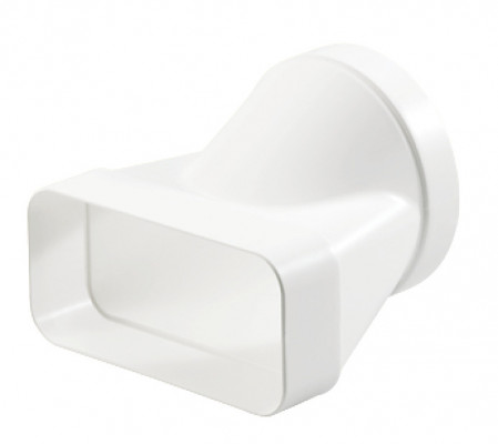 End piece, white plastic, system 125/150, system 125, heightxwidth 82x174 mm, › 125 mm