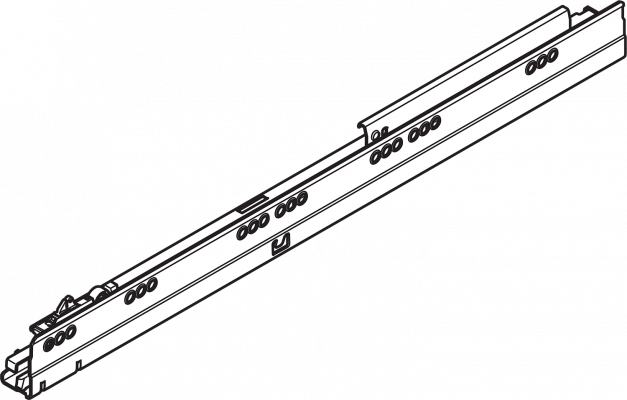 ANTARO/TANDEMBOX cabinet profile, 65 kg, NL=650 mm, right, ZN