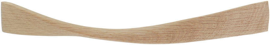 Pull handle, oak, fixing centres 224-320 mm, twist, length 388 mm