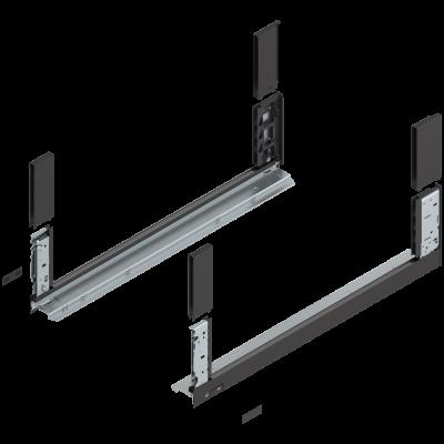 LEGRABOX free drawer side, height C (177 mm), NL=650 mm, left+right, terra black
