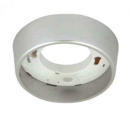 Downlight housing to suit GX53 downlights, surface, Ø 88 mm, IP20, satin chrome
