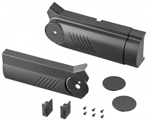 AVENTOS HF bi-fold lift system, cover cap set (inc trigger switch), left+right, dark grey