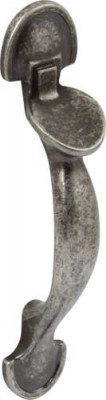 Pull handle, zinc alloy, fixing centres 64 mm, norfolk, antique pewter