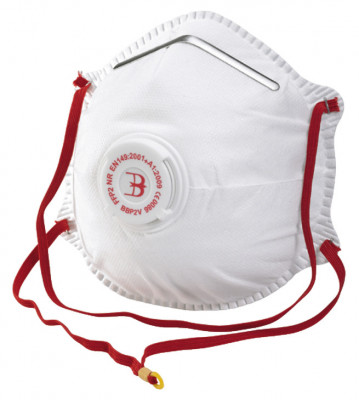 Dust mask, disposable, fine-dust, P2, with valve, this item is FFP2 rated