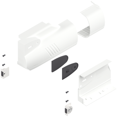 AVENTOS HK lift system, cover cap set (inc trigger switch), left+right, silk white
