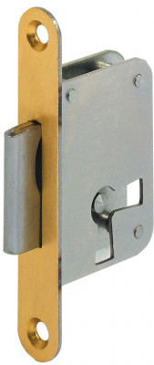 Mortice lock, lever bit, 2 position, steel, backset 35 mm, left /drawer mounting