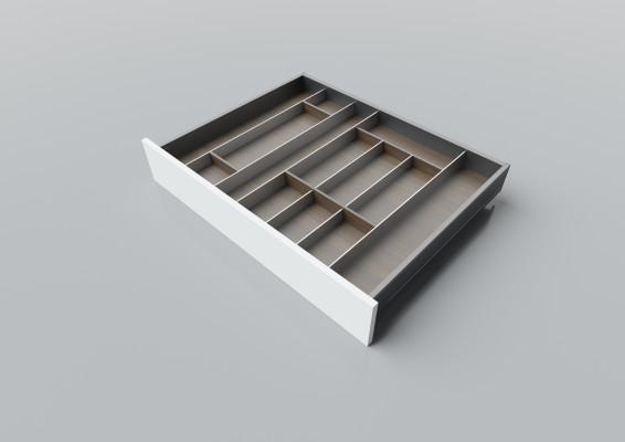 Cutlery divider for LEGRABOX/TA'OR C=700-950 mm, NL=600 mm, walnut