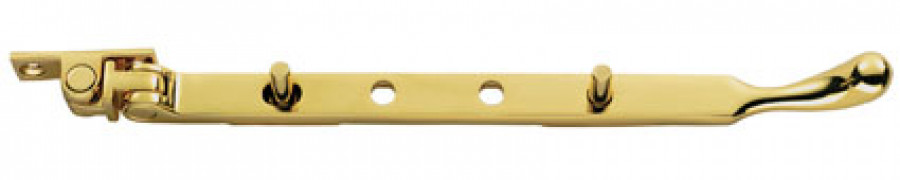 Bulb end casement stay, brass