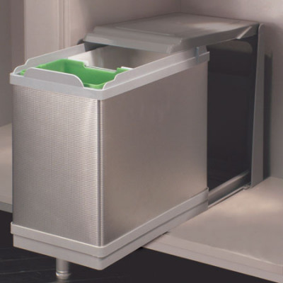 Pull-Out Waste Bin Metal Runners St.St