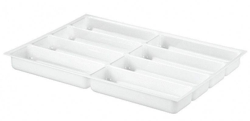Drawer insert, shallow, variant-d, 2.5 mm material thickness,with 8 compartments