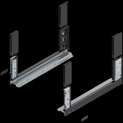 LEGRABOX free drawer side, height C (177 mm), NL=450 mm, left+right, terra black