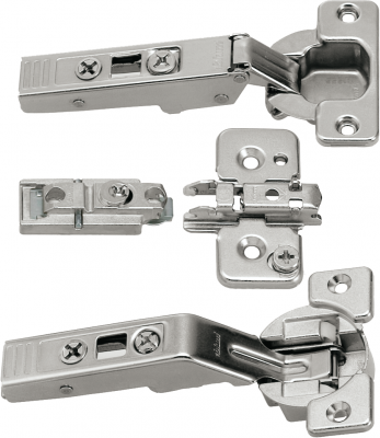 CLIP top hinge pack for WOODEN DOORS for AVENTOS bi-fold lift systems, NP