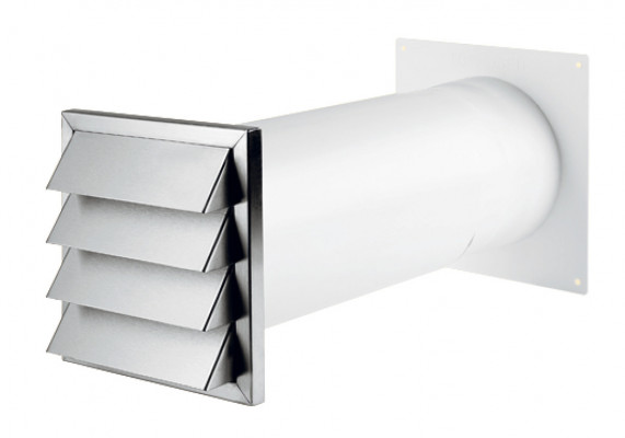Wall vent system, stainless steel, with blind, system 125/150, system 125, tube › 150 mm