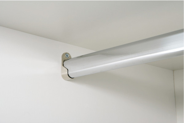 Wardrobe rail, packed set for double wardrobes, wall thickness 0.7 mm