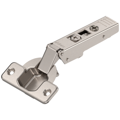CLIP top hinge 120°, OVERLAY, unsprung, boss: SCREW-ON, nickel