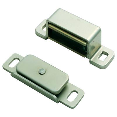Steel magnetic catch (3.5 kg pull) 46x15x14 mm, nickel
