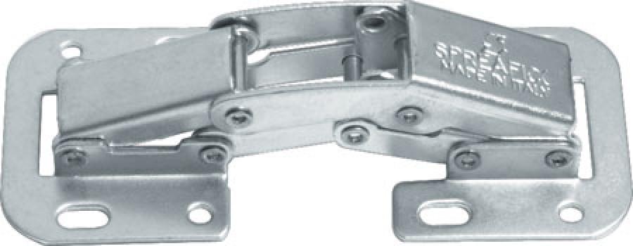 Concealed hinge, 90ø, easy mount, steel, sprung