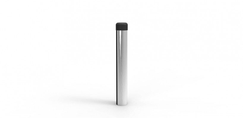 Doorstop, cylinder (without rose), satin chrome