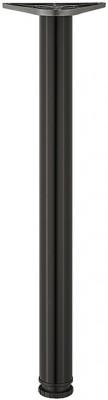 Leg, 60/80 mm, tubular steel, steel, 60 mm, height 690 mm, black