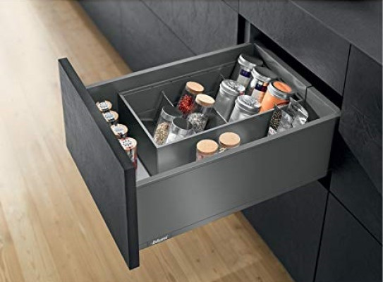 LEGRABOX now Pre-assembled pure, NL=500 mm, height C (193 mm), CW=864 mm, orion grey