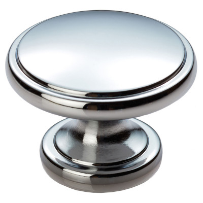 Oxford knob, 38 mm, chrome
