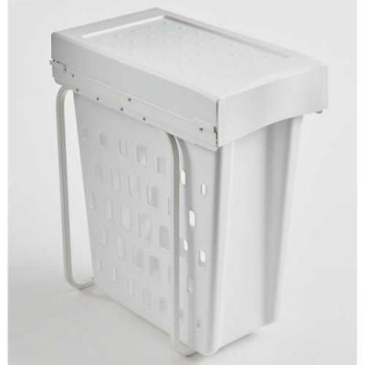 Laundry Boy basket with lid, CW=300mm, 40 litre, single bin, WESCO, white
