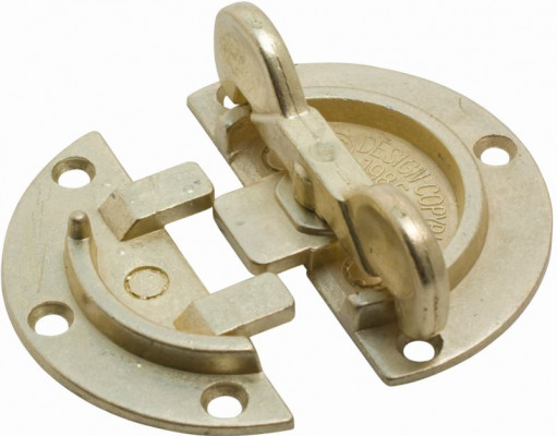 Table cleats, Ø 64 mm, brass TWO PART JOB
