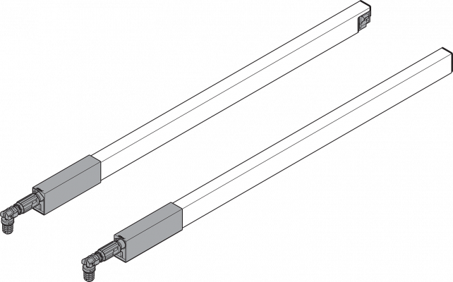 ANTARO longside middle gallery rail, INSERTA, NL=450 mm, grey