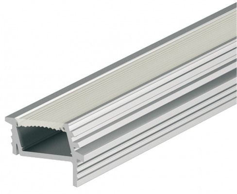 Recessed aluminium angled profile, LED Flexible strip lights, L=2500 mm, D=7 mm, frost