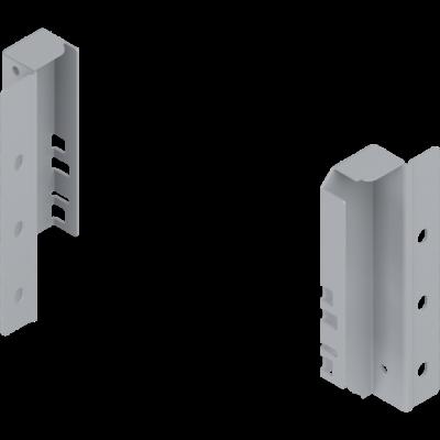 ANTARO/TANDEMBOX back fixings bracket, height B (160 mm), left, metalic grey