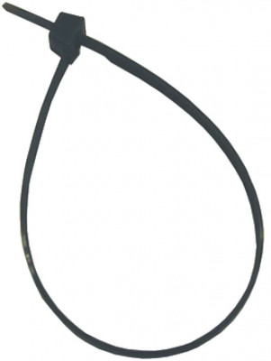 Cable tie, black nylon, 200x4.8 mm