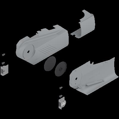 AVENTOS HS, cover cap set (inc trigger switch), left+right, for SERVO-DRIVE, dark grey