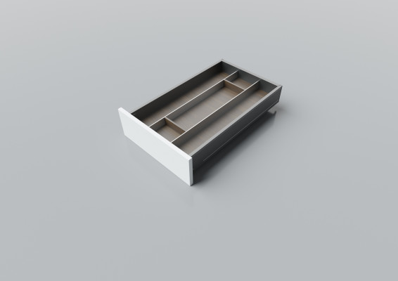 Cutlery divider for LEGRABOX/TA'OR C=400-450 mm, NL=600 mm, walnut