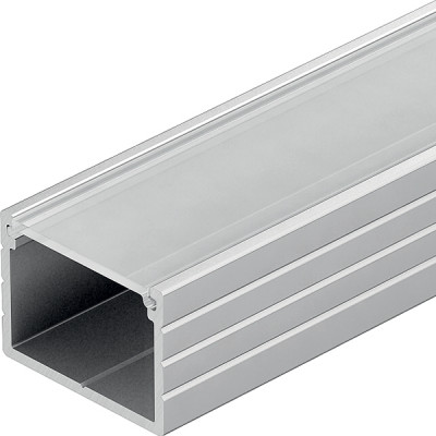 Aluminium Surface Profile, for Flexible Strip Lights, L=2500 mm, H=13 mm, W=18 mm, milky