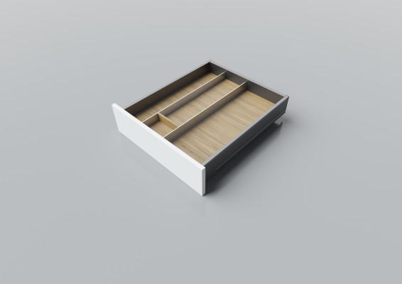 Cutlery divider for LEGRABOX/TA'OR C=500-550 mm, NL=550 mm, oak