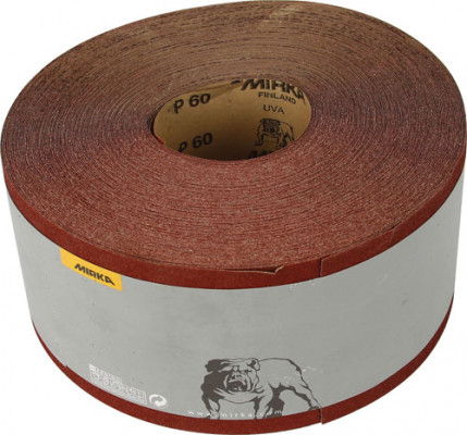 Abrasive roll, 50 m roll, mirka hi-flex, for power &  sanding, grit: 80
