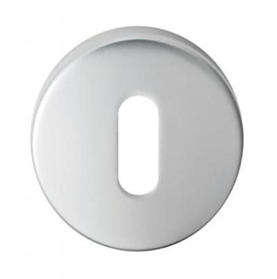 Standard key escutcheon in satin chrome
