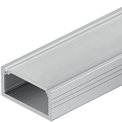 Aluminium Profile, for Flexible Strip Lights, L=2500 mm, H=8.5 mm, W=18 mm, milky