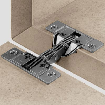 Mitred flap hinge, for 45ø mitred applications, nickel