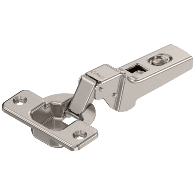 CLIP hinge 100°, dual applications, boss: SCREW-ON, nickel