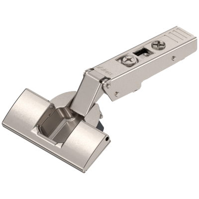 CLIP top hinge 120°, OVERLAY, unsprung, boss: INSERTA, nickel