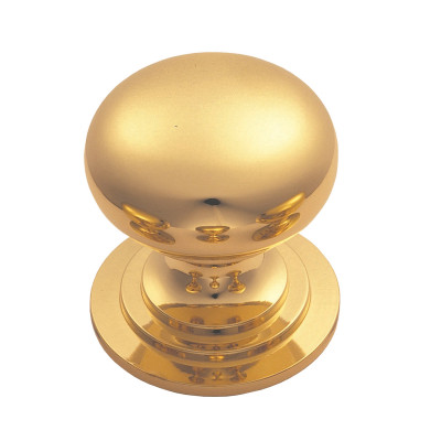Victorian knob (one piece), Ø 32 mm, polished brass